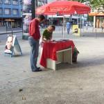Infostand am Hansemannplatz - 22.8.09